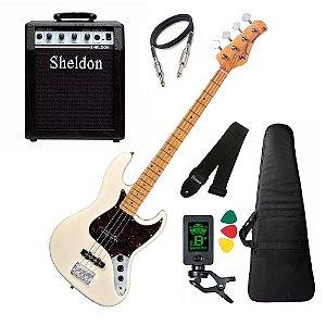 Kit Baixo Tagima Tw73 Woodstock cubo amplificador Sheldon