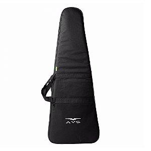 Bag Capa Luxo Guitarra Avs Acolchoado Mochila E Maos