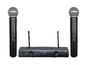 2 Microfone Sem Fio Duplo Profissional Uhf Tag Sound Tagima