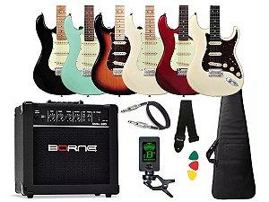 Guitarra Tagima T635 Classic Amplificador Cubo Caixa Borne