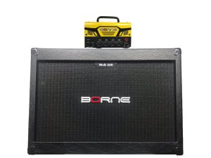 Cabeçote Borne Mob T30 caixa 2 falantes 12 2x12 mob200 Amarelo