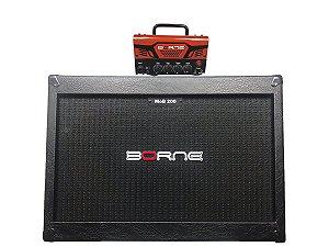 Cabeçote Borne Mob T30 caixa 2 falantes 12 2x12 mob200 Laranja