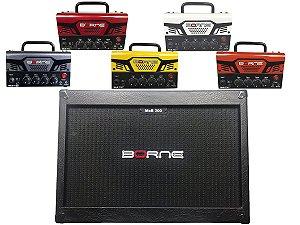 Cabeçote Borne Mob T30 caixa 2 falantes 12 2x12 mob200 Vermelho