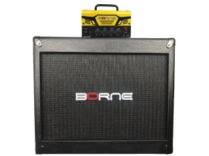 Cabeçote Borne Mob T30 Caixa falante de 12 1x12 Mob112 Amarelo