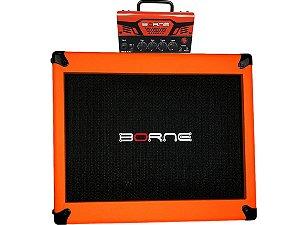 Amplificador Cabeçote Borne MobT30 falante 12 laranja orange