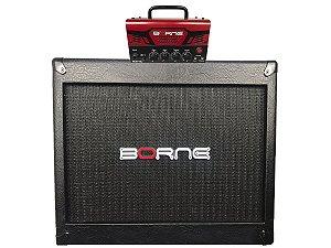 Cabeçote Borne Mob T30 Caixa falante de 12 1x12 Mob112 Vermelho