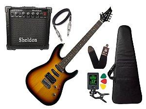 Kit Guitarra Memphis Tagima Mg230 Sunburst Sheldon