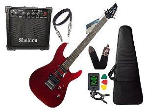 Kit Guitarra Memphis Tagima Mg230 Vermelho Sheldon