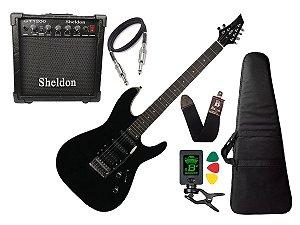 Kit Guitarra Tagima Memphis Mg230 Preto Cubo Sheldon