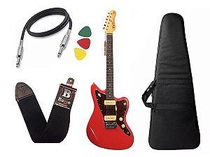 kit Guitarra  Tagima Tw61 Woodstock Vermelho Bag Correia