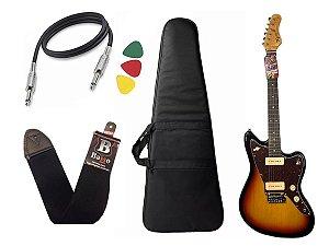 Kit Guitarra  Tagima Tw61 Woodstock Sunburst Bag Correia