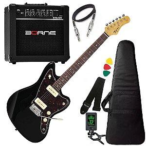 Kit Guitarra  Tagima Tw61 Woodstock Preto Amplificador Borne