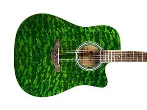Violão Phx Ah t4 Tgra Verde Anatômico Folk J. White