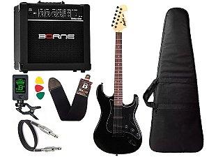 Kit Guitarra Tagima Mg32 Preto Caixa Amplificador Borne G30
