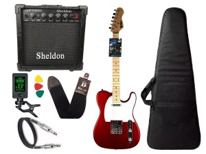 Kit Guitarra Telecaster Phx Tl1 vermelho Amplificador Sheldon