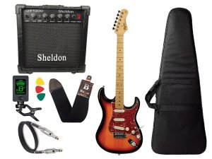 kit Guitarra Tagima TG 530 Woodstock Sunburst Cubo Sheldon