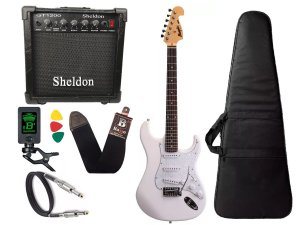 Kit Guitarra Tagima Memphis Mg32 Branco amplificador Sheldon