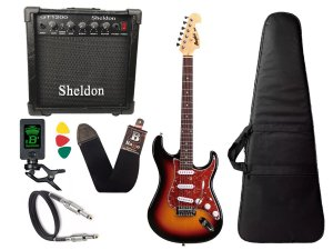 Kit Guitarra Tagima Memphis Mg32 Sunburst Cubo Sheldon