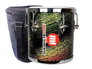 Repique De Mão profissional Madeira colorido music 30x10 bag