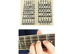 Adesivo notas escala Marcador transparente para Guitarra Violão
