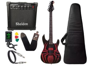 Kit Guitarra Marvel spider man aranha phx Gms1 cubo sheldon