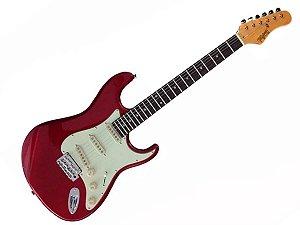 Guitarra tagima t635 Vermelho escala Escura escudo mint green