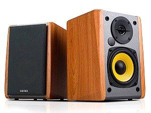 Caixa Monitor edifier R1010bt Bluetooth madeira home estudio