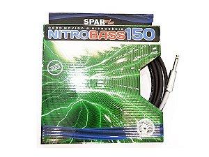 cabo contra baixo sparflex 3 mt p10 nitro bass 150 nitrogenio - garantia eterna