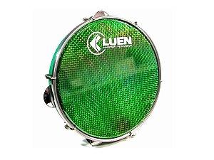 Pandeiro Luen 12 Polegadas Pele Holográfica Verde