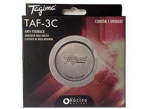 Tampão Violão classico nylon Redutor Microfonia Tagima redondo 80mm TAF3
