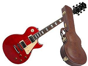 Guitarra Tagima Les Paul tlp Flamed vermelho com case