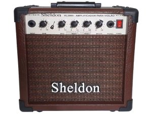 Amplificador caixa Para Violão Sheldon Vl2800 15w marrom
