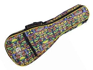 Capa Bag ukulele tenor luxo acolchoado colorido Custom Sound