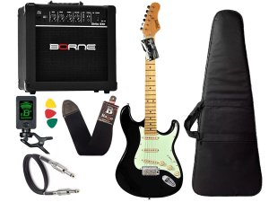 Kit guitarra tagima t635 preta amplificador borne