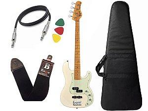 Kit contra Baixo Tagima Tw65 branco Woodstock precision Capa