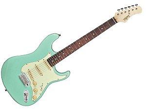 Guitarra tagima t635 surf green verde vintage escala escura