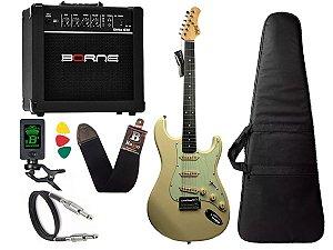 Kit guitarra tagima t635 Branca vintage amplificador borne