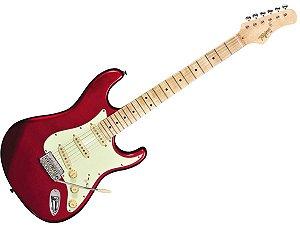 Guitarra tagima t635 Vermelho escala Clara escudo mint green