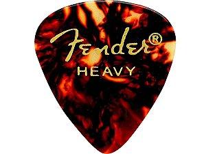 12 Palhetas Fender Heavy grossa Tortoise Shell - original