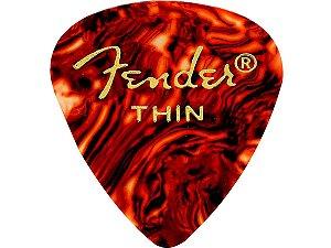3 Palhetas Fender Thin fina Tortoise 351 Shell Celulóide