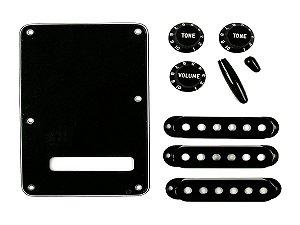 Kit Acessórios fender Guitarra stratocaster knob tampa Preto