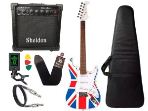 Kit Guitarra Eagle Sts001 Uk inglaterra amplificador Sheldon