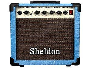 Caixa Amplificador Para Violão Sheldon Vl2800 azul 15w novo