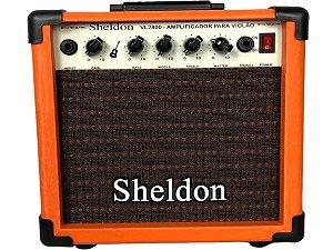 Caixa Amplificador Violão Sheldon Vl2800 Laranja orange 15w