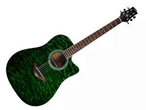 Violão Folk Elétrico Phx  J. White Anatômico verde
