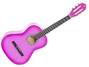 Violão Giannini Start Criança Infantil N6 3/4 Rosa Pink