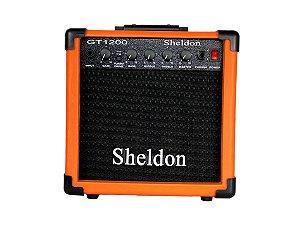 Amplificador Caixa Cubo para Guitarra Sheldon Gt1200 15w Laranja