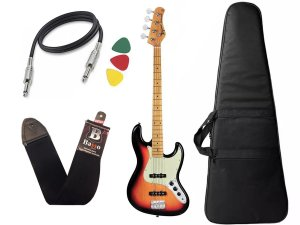 Kit Baixo Tagima Tw73 Woodstock Jazz Bass Passivo Sunburst Bag