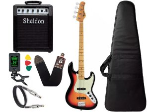 Kit Baixo Tagima Tw73 Woodstock Jazz Bass Passivo Sunburst Sheldon
