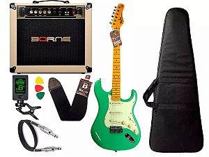 Kit Guitarra Tagima Tg530 Surf Green Verde Cubo Borne Vorax 1050 w